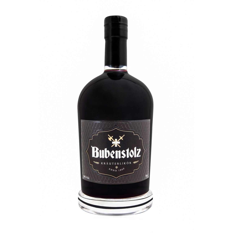 Bubenstolz Glasflasche in schwarz
